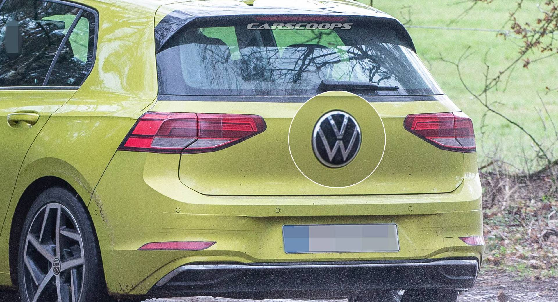 2020 Golf Mk8 Hides New Volkswagen Logo In Plain Sight Carscoops