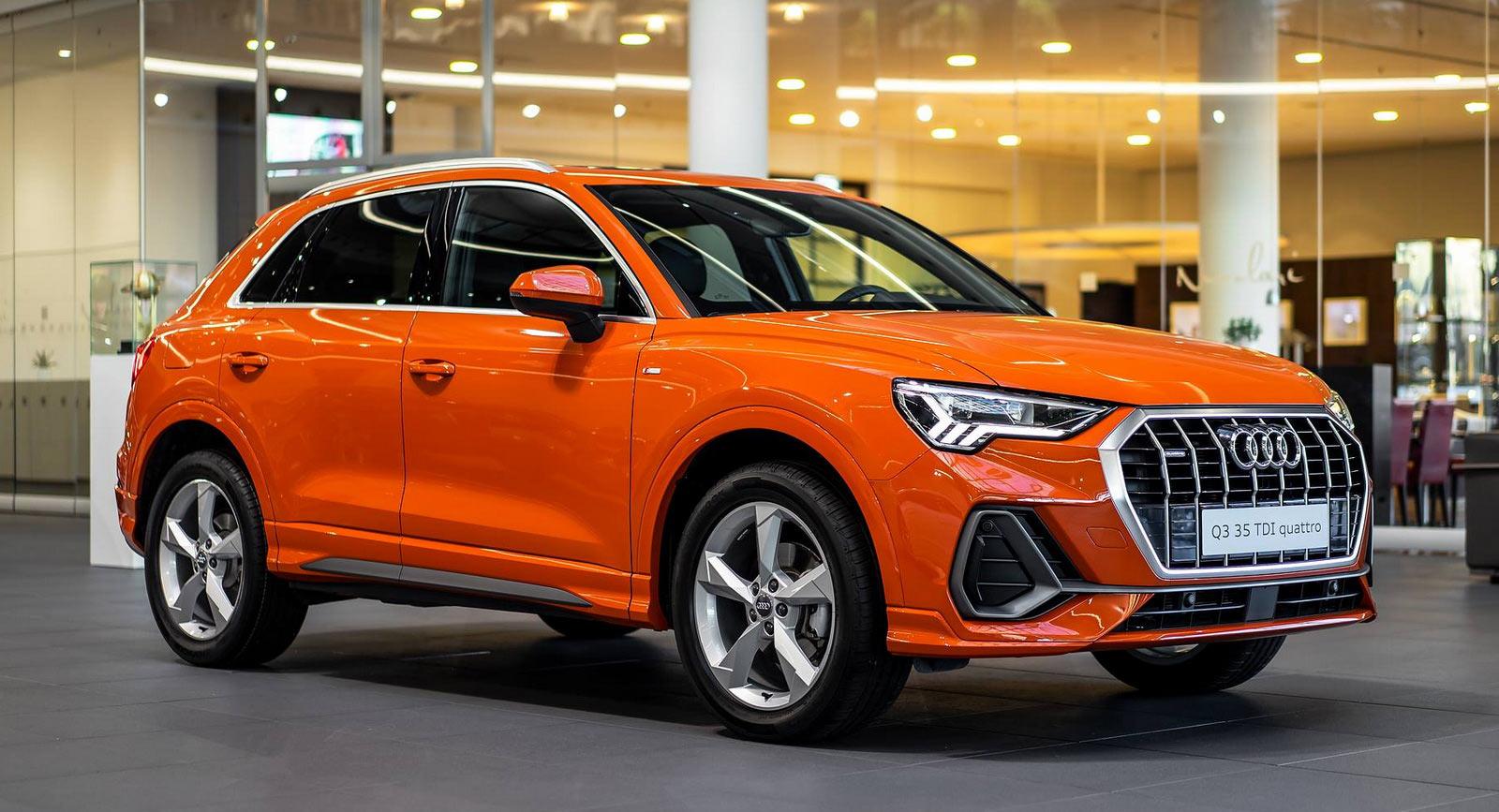 pulse orange audi q3 sports a colorful alcantara interior