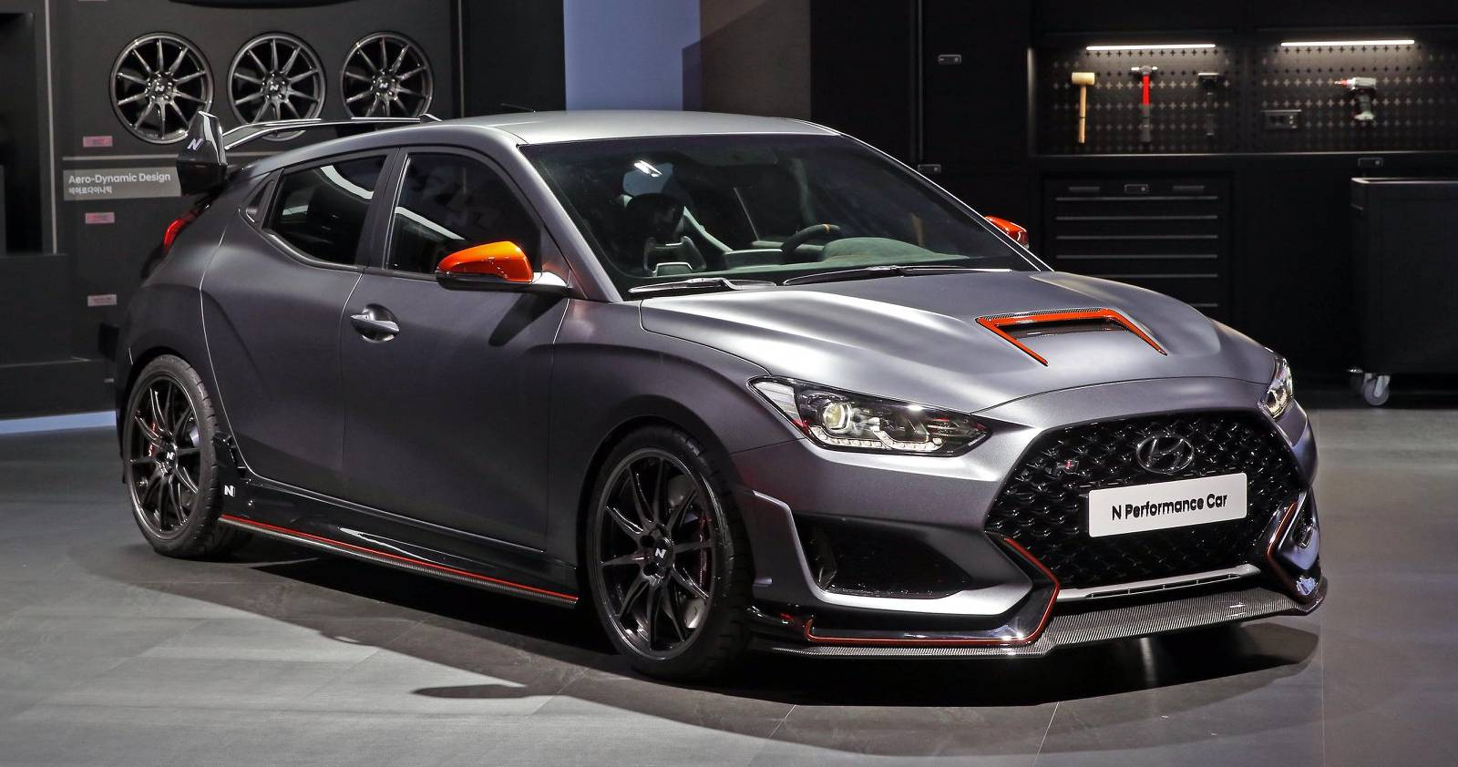 Hyundai Performance Car Concept Is A Veloster N Loaded With Custom Parts Carscoops