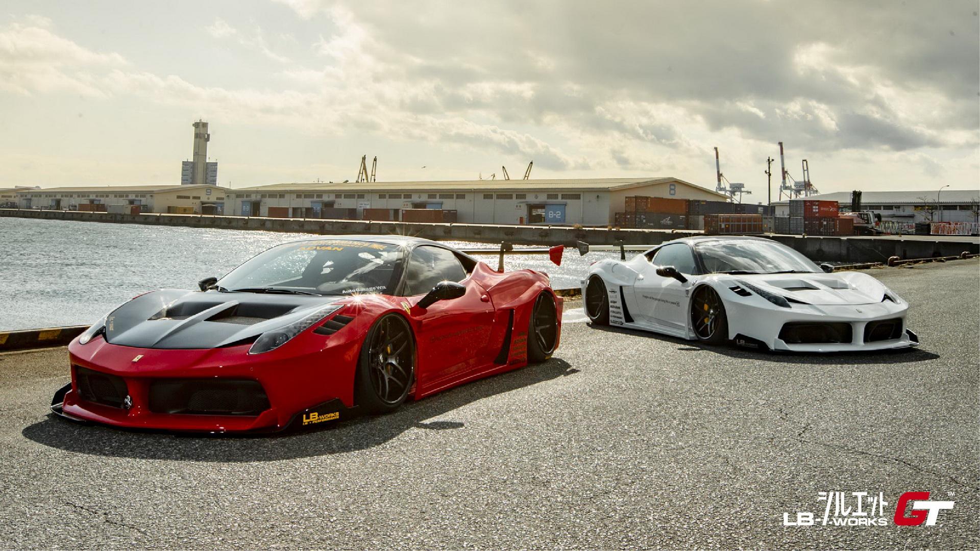 Liberty Walk Has A New Boy Racer Kit For Ferrari S 458 Italia Carscoops