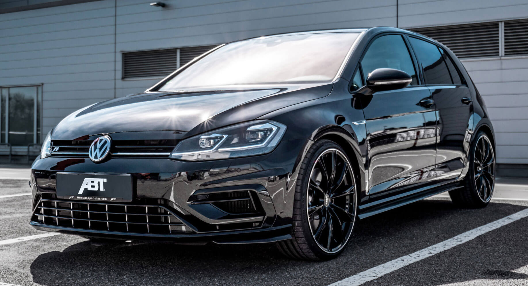 vw golf r gets more power and a revised stance from abt