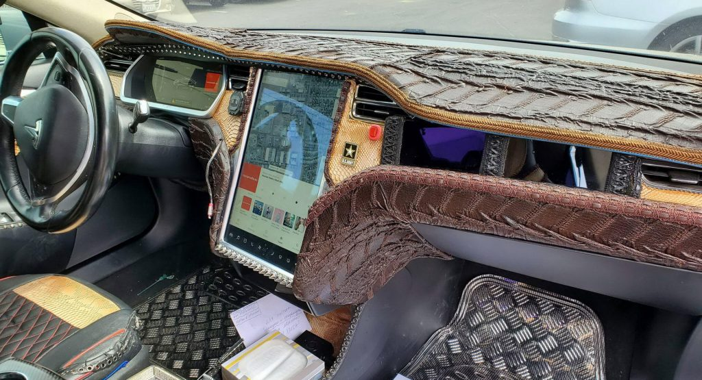 Crocodile Dundee Would Be Proud Of This Tesla Model S Custom Interior