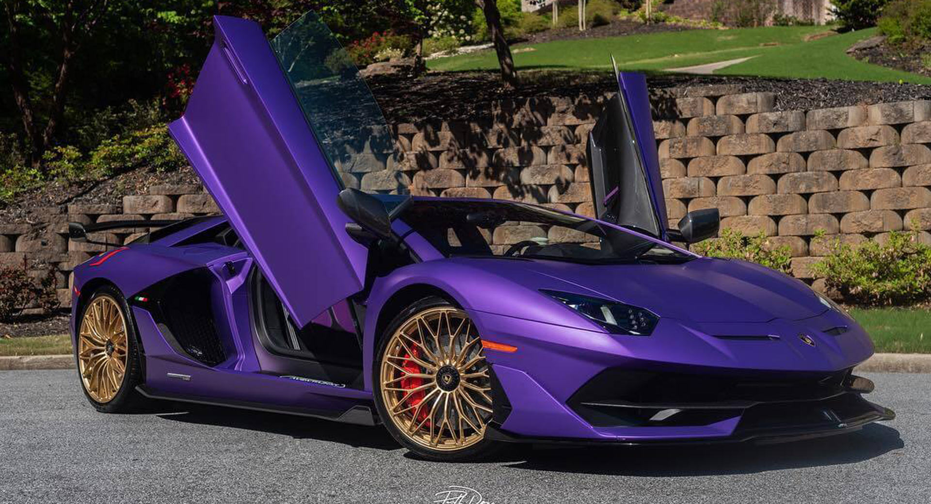 Matte Purple Lamborghini Aventador Svj Looks Like A Colorful
