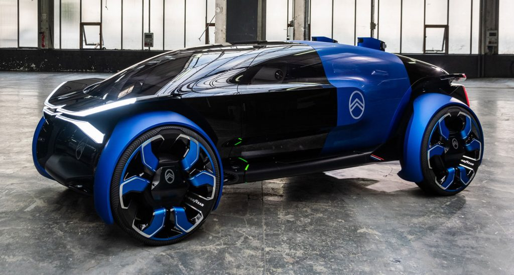 Citroen S New Electric 19 19 Concept Has A 500 Mile Range And 30 Inch Rims Carscoops