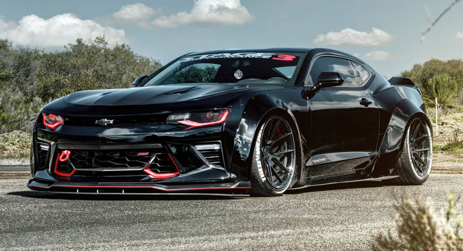 Wide-Body Chevy Camaro SS On Custom Wheels Is Such A Drama Queen   Carscoops