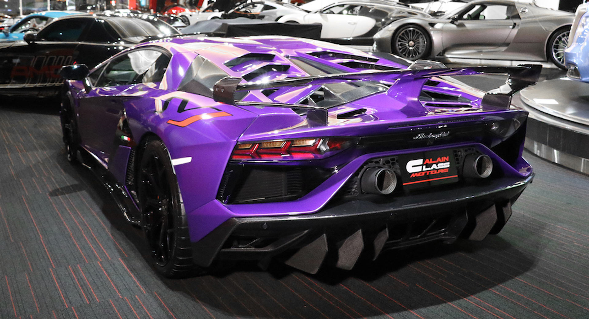 This Lamborghini Aventador Svj Stands Out Even In Supercar Infested