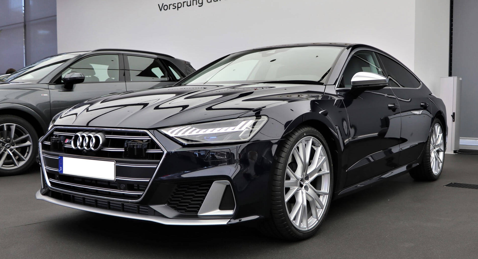 2020 Audi S7 On Display With Firmament Blue Metallic ...
