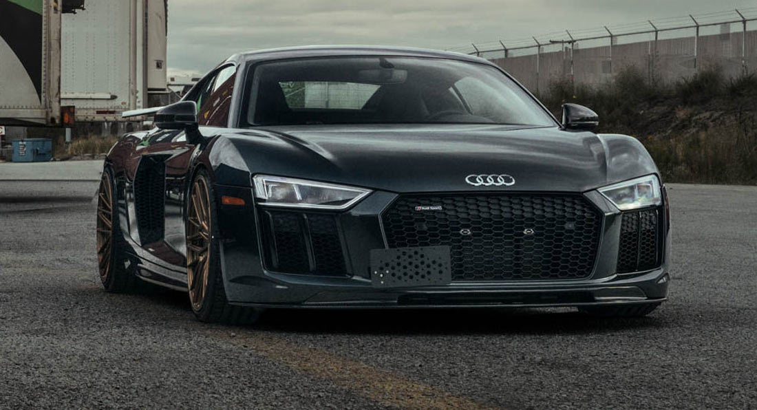 This Audi R8 Is A Perfect Example Showing Dark Grey And Bronze Do Match Carscoops