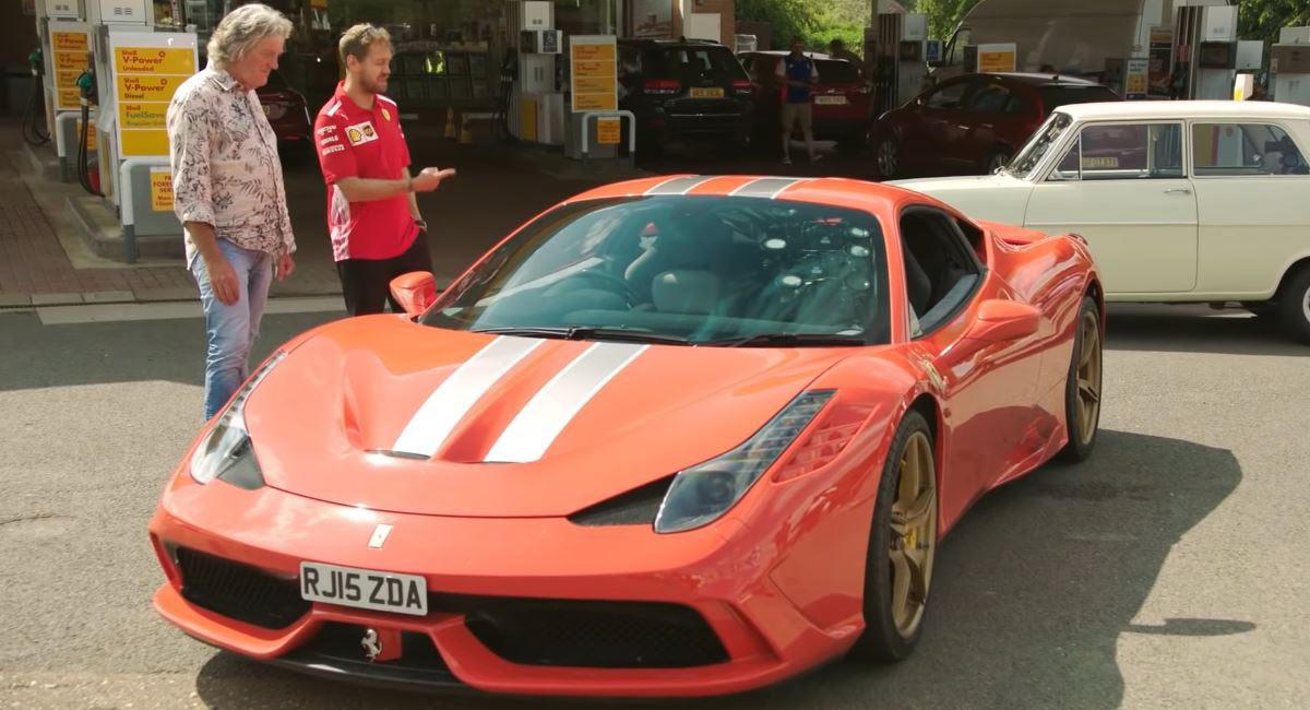 Sebastian Vettel Samples James May S Ferrari 458 Speciale Carscoops