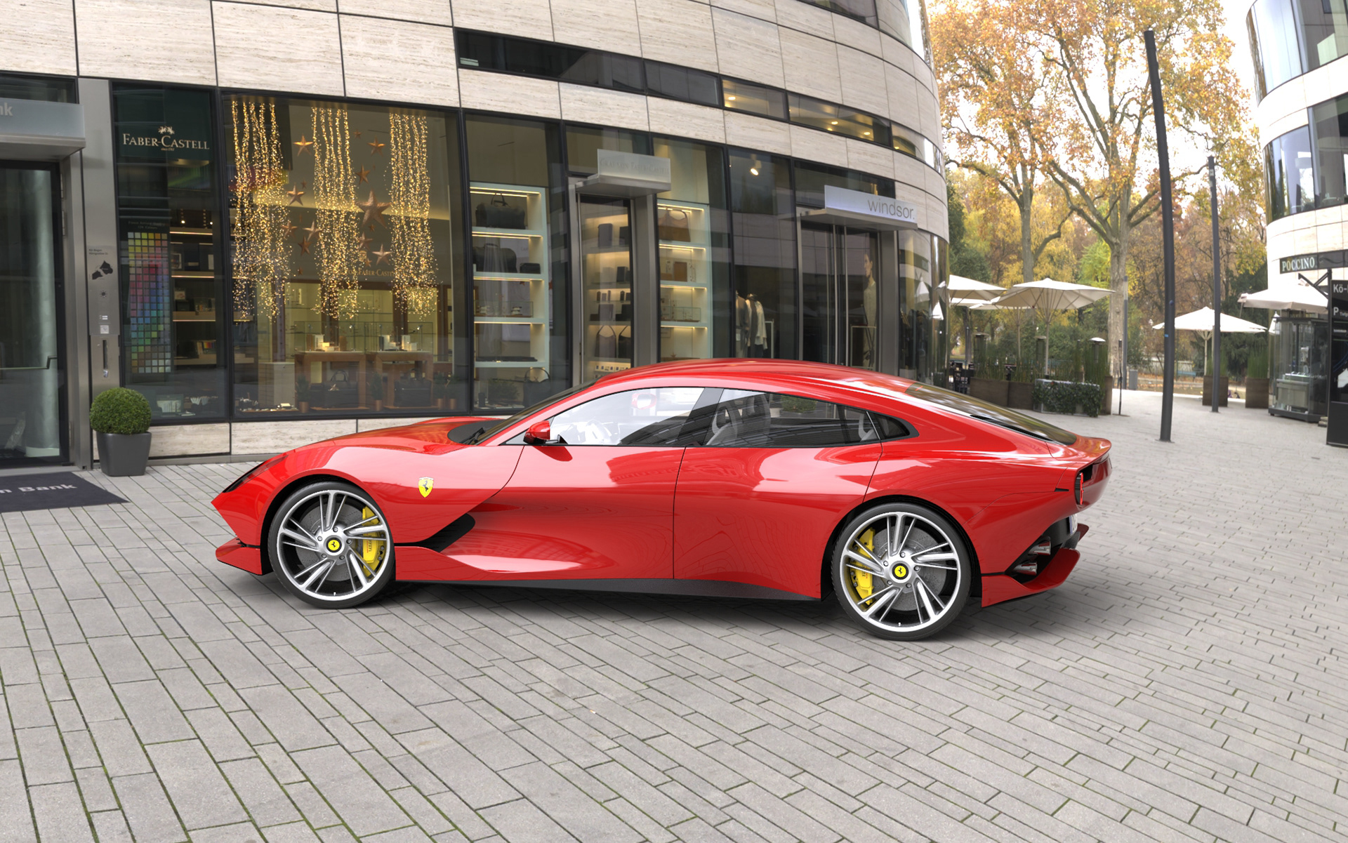 Ferrari Gtc4 Grand Lusso Is The Four Door Prancing Horse You Never Knew You Wanted Carscoops
