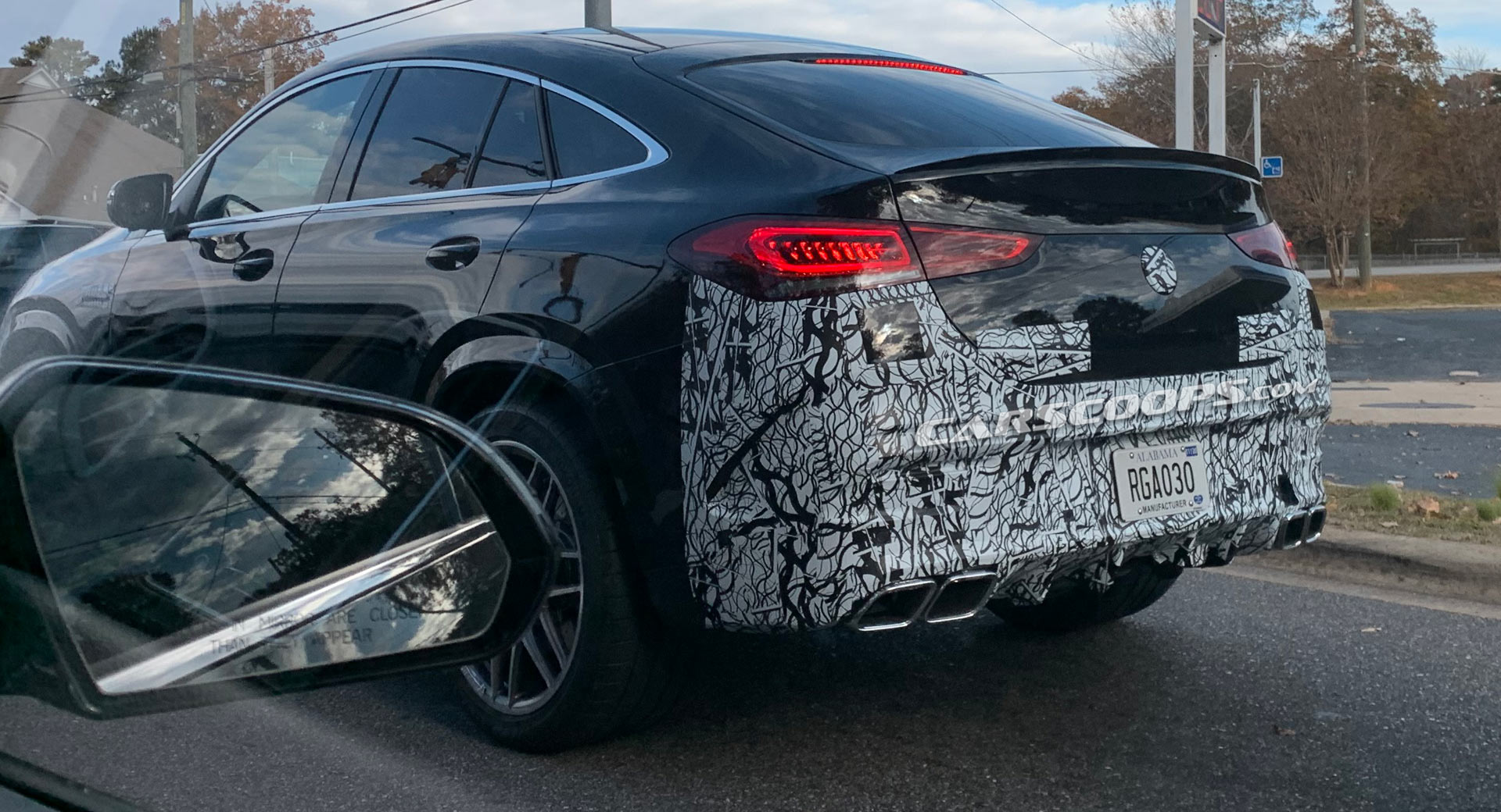 2021 Mercedes Amg Gle 63 Coupe Spotted In America All Muscled Up Carscoops