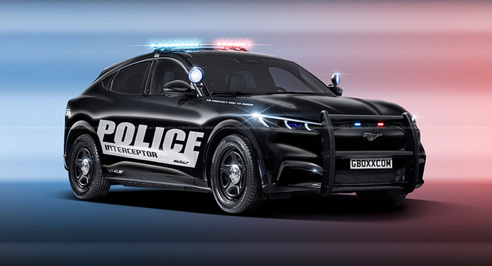 Ford Mustang Mach E Looks Good In Police Uniform Carscoops