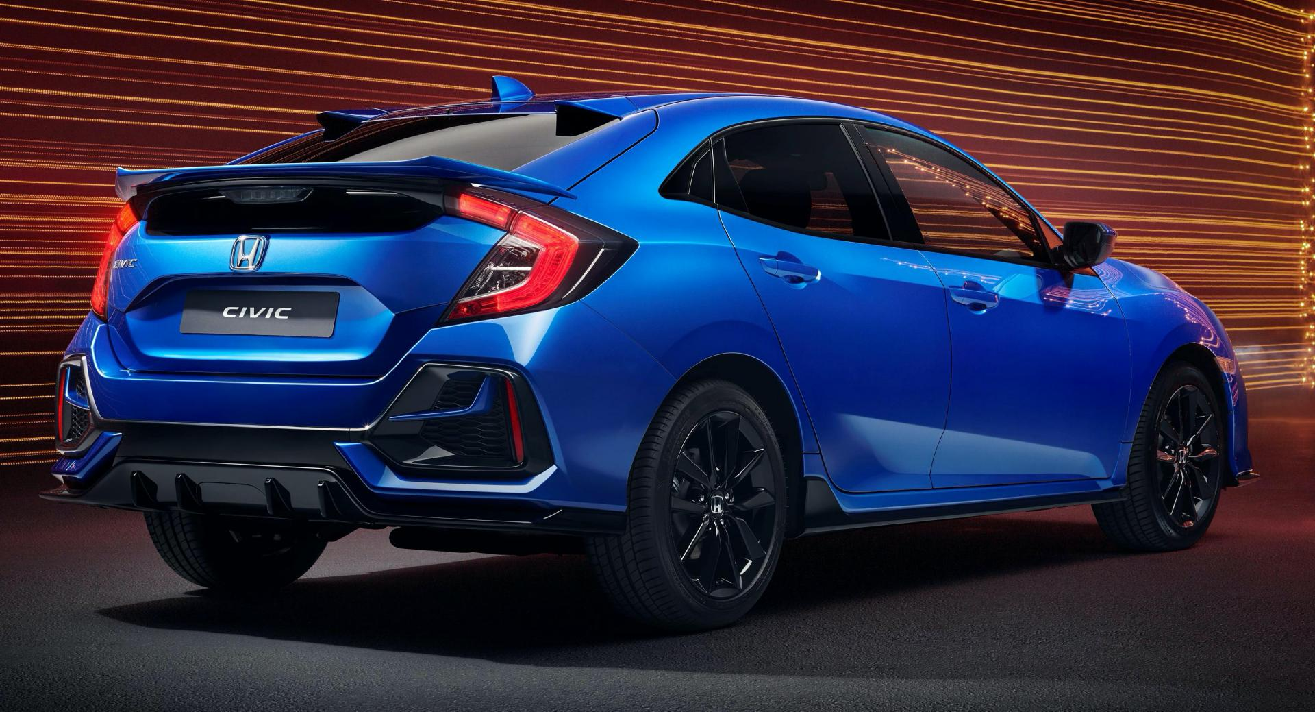 2020 Honda Civic Sport Line Mixes Type R Inspired Design With Three Cylinder Power Carscoops