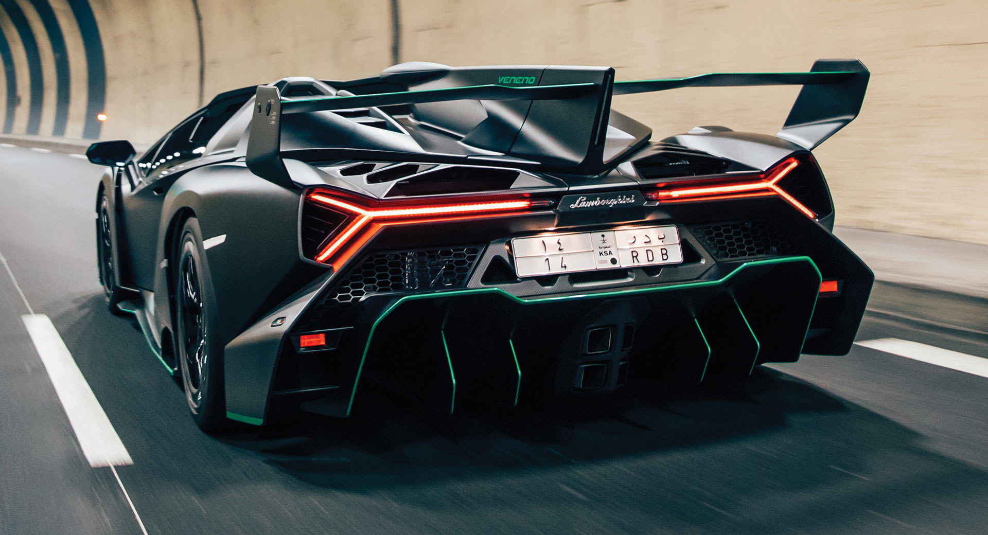 Stunning Lamborghini Veneno Roadster In Satin Black Could