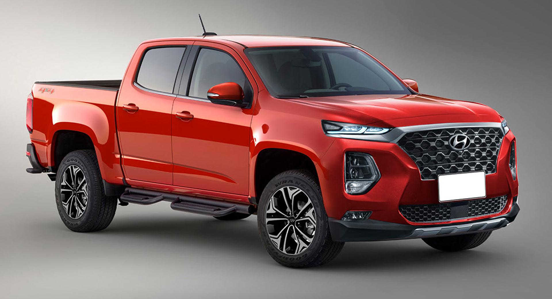 Hyundai's Rugged Pickup Truck Could Use GV80's Straight ...