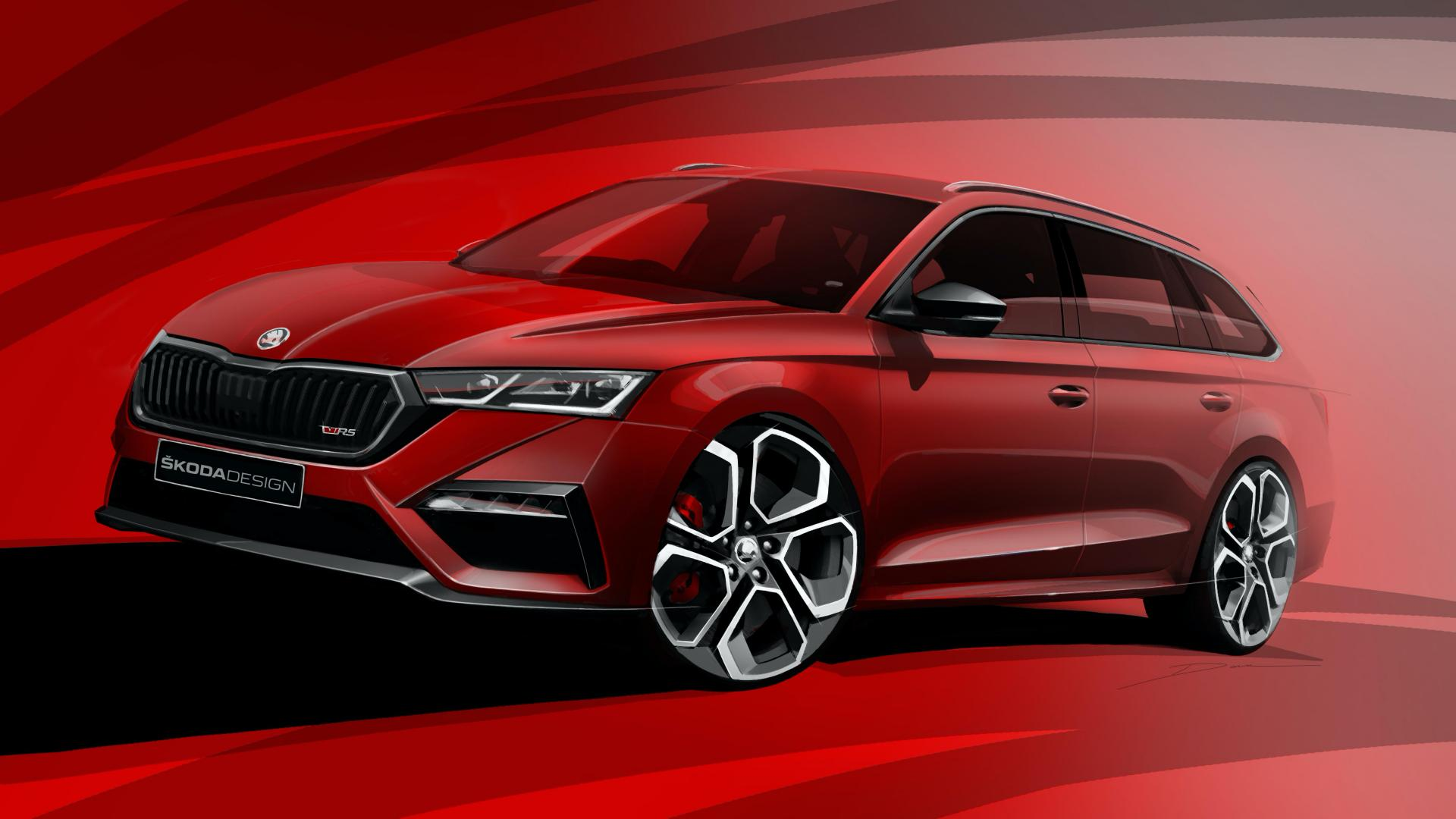 2020 Skoda Octavia Rs Iv Officially Previewed In Design Sketches Carscoops