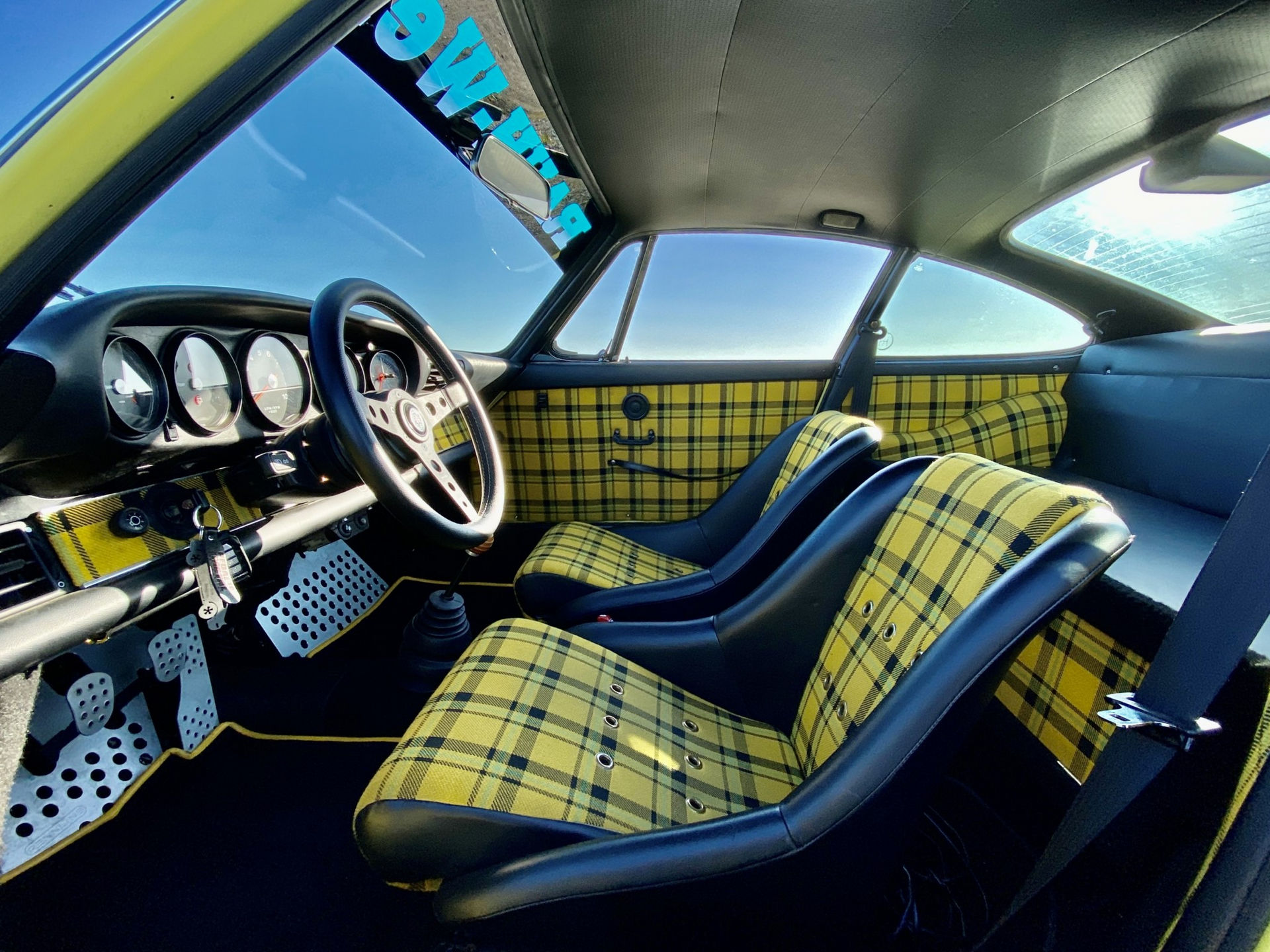 Want A Light Yellow 1987 Porsche 911 Carrera Rwb With A Wide Booty And Tartan Interior Carscoops