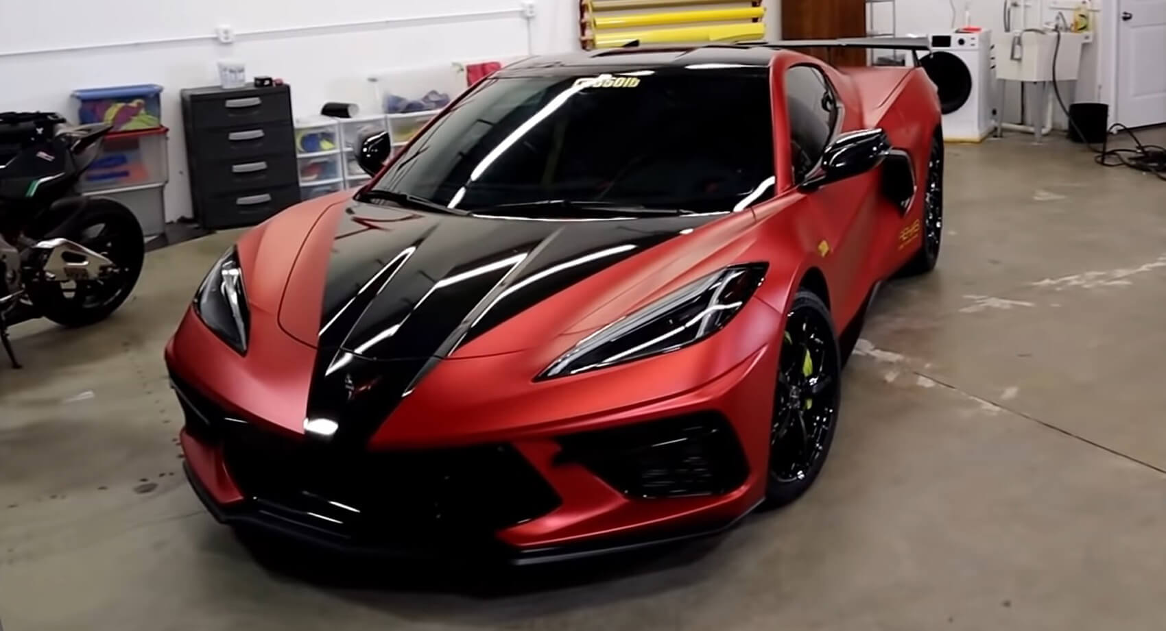 Watch These Guys Wrap A 2020 Corvette C8 | Carscoops