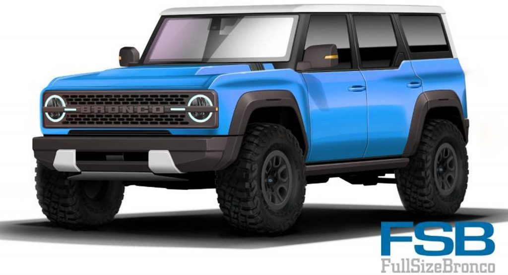 2021 Ford Bronco Here S Another Rendered Take In A Multitude Of Colors Carscoops