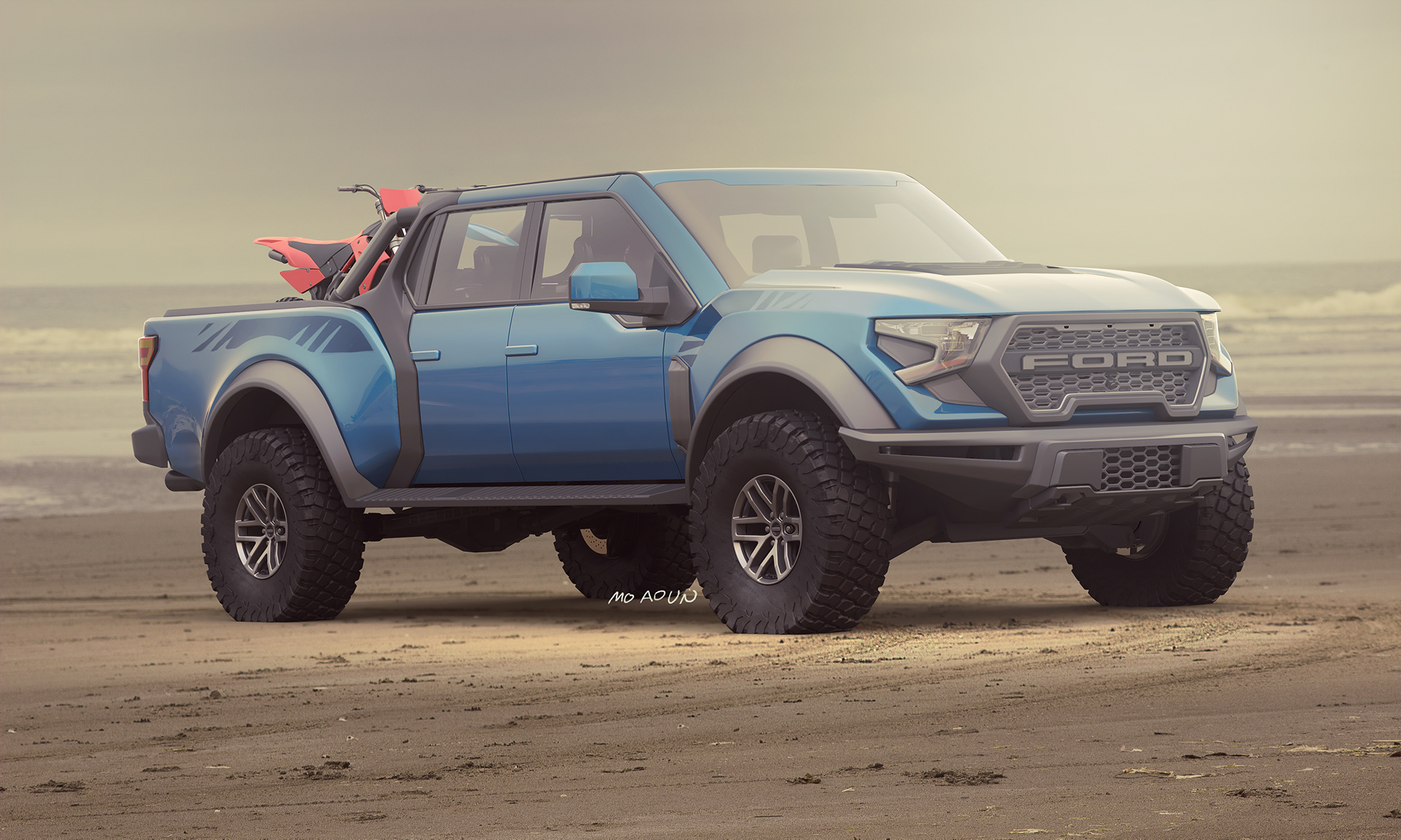 Futuristic 4 Ford F-4 Raptor Looks Oh So Good  Carscoops