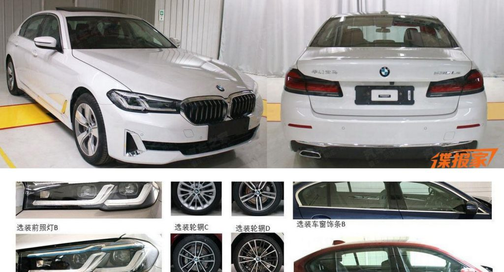 2021 Bmw 5 Series Lwb Facelift Stretches Out Updated Looks In China Carscoops