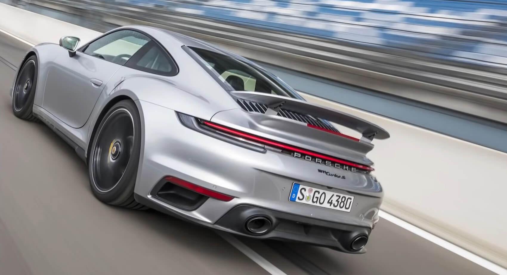 2021 Porsche 911 Turbo S Goes Around The Track Faster Than The Lambo Huracan Evo And Ferrari 488 Gtb Carscoops