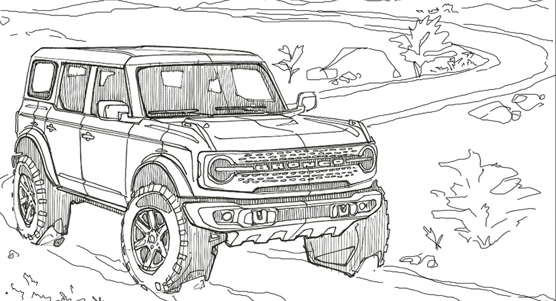 Ford Drops Coloring Pages For The 2021 Bronco And Bronco ...