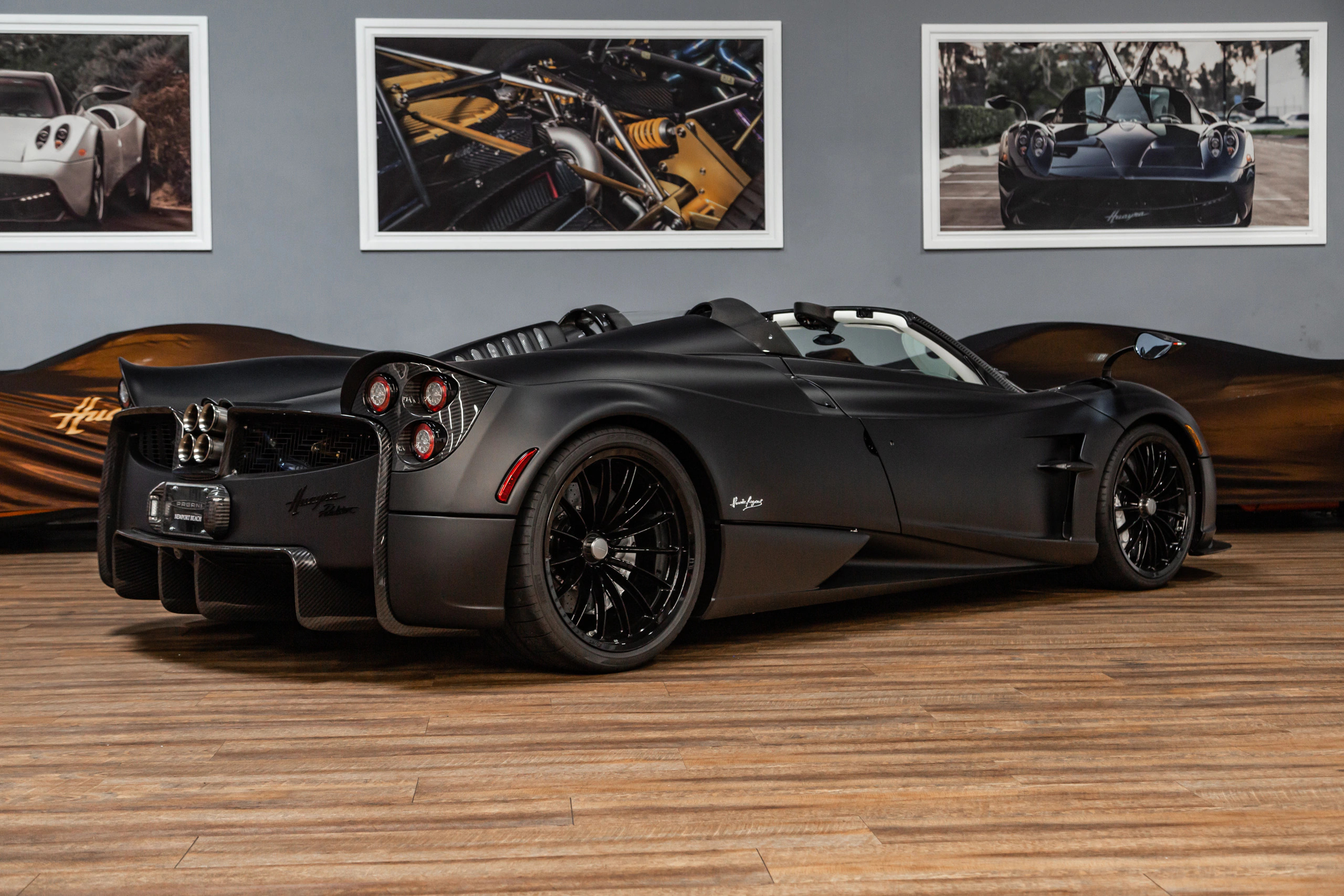 Matte Black Pagani Huayra Roadster Is A Batmobile For The Street Carscoops