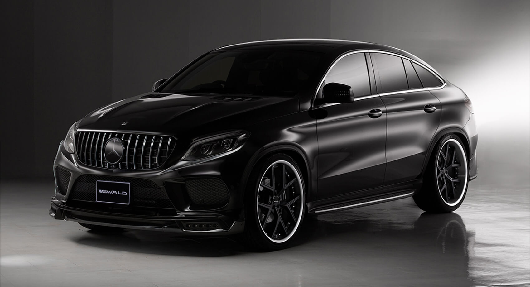 Wald S Latest Blacked Out Mercedes Benz Gle Coupe Is Not A Black Bison Carscoops
