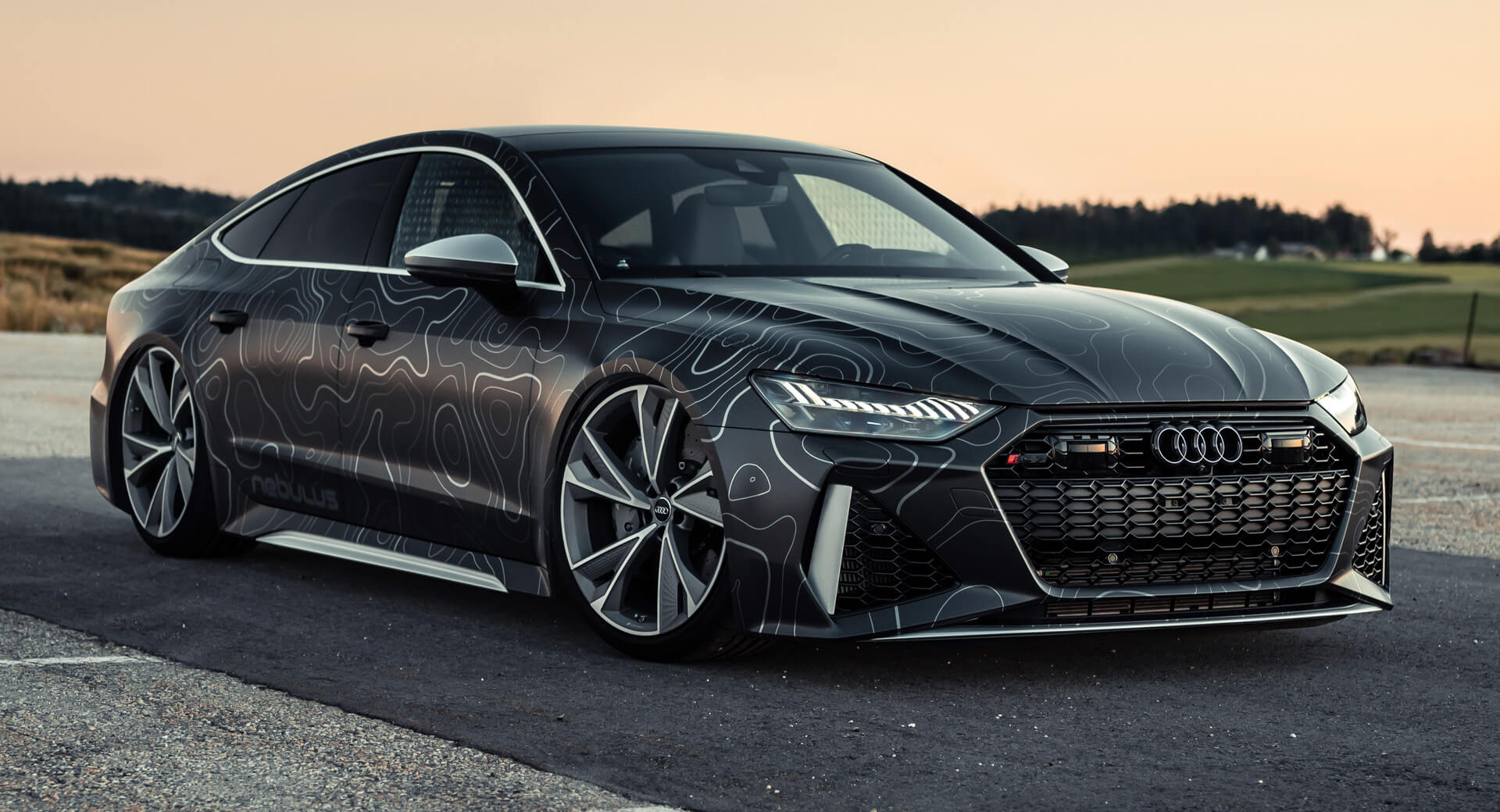 Tuned Audi Rs7 Sports 942hp Black Diamond Matte Wrap Carscoops