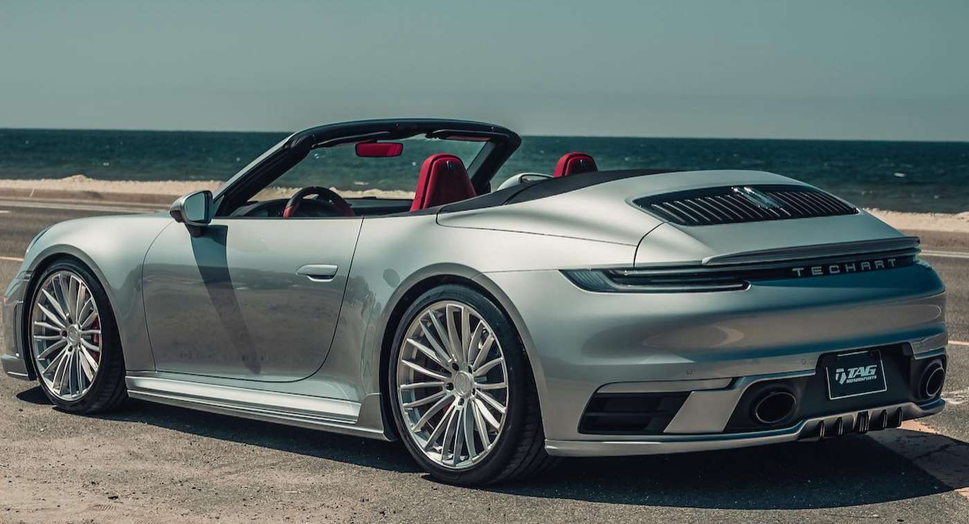 Porsche 911 992 Cabriolet Goes To Techart For An Upgrade Carscoops