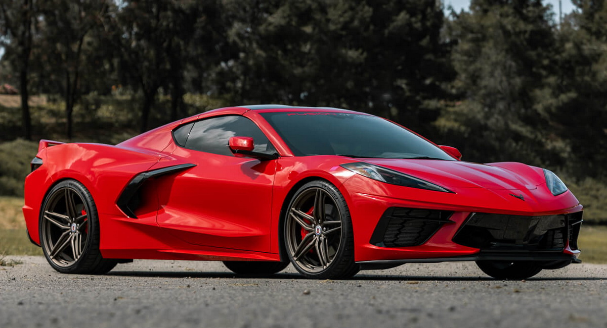 Do These Satin Bronze Wheels Suit A Torch Red C8 Corvette?  image