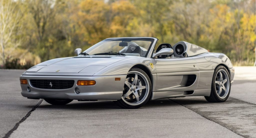 Shaq S Old Ferrari F355 Spider Is For Sale With Big Boy Cabin Space Carscoops